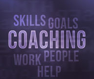 Coaching Tag Cloud Royalty Free Stock Image