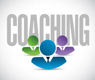 Coaching team sign illustration design graphic Royalty Free Stock Photos