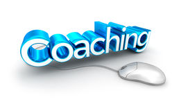 Coaching text,  3d Concept  Royalty Free Stock Images