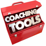 Coaching Tools Team Building Leadership Toolbox. 3d Illustration Royalty Free Stock Photo