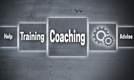 Coaching touchscreen concept background. Coaching and training touchscreen concept background Royalty Free Stock Photography