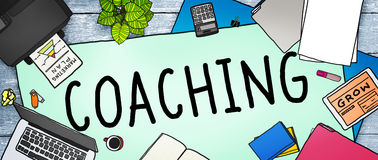 Coaching Training Mentor Teaching Coach Concept Stock Image