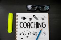 COACHING Training Planning Learning Coaching Business Guide Inst. Ructor Leader Stock Photos