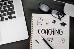 COACHING Training Planning Learning Coaching Business Guide Inst. Ructor Leader Stock Image