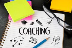 COACHING Training Planning Learning Coaching Business Guide Inst. Ructor Leader stock photo