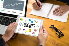 COACHING Training Planning Learning Coaching Business Guide Ins. Tructor Leader royalty free stock photos