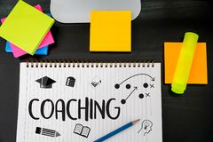 COACHING Training Planning Learning Coaching Business Guide Inst. Ructor Leader Royalty Free Stock Photos