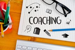 COACHING Training Planning Learning Coaching Business Guide Inst. Ructor Leader Stock Photography