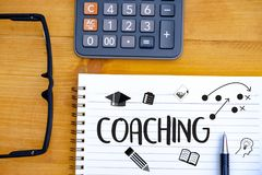 COACHING Training Planning Learning Coaching Business Guide Inst. Ructor Leader Royalty Free Stock Image