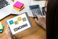 COACHING Training Planning Learning Coaching Business Guide Inst Stock Images