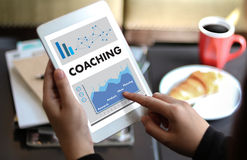 COACHING Training Planning Learning Coaching Business Guide Inst Royalty Free Stock Photography