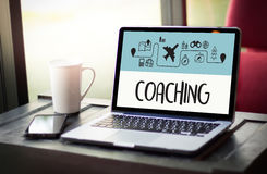 COACHING Training Planning Learning Coaching Business Guide Inst Royalty Free Stock Image