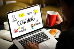 COACHING Training Planning Learning Coaching Business Guide Inst Stock Photo