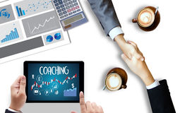 COACHING Training Planning Learning Coaching Business Guide Inst Stock Image