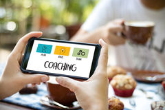 COACHING Training Planning Learning Coaching Business Guide Inst Stock Photos