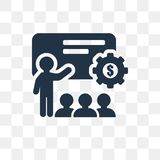 Coaching vector icon isolated on transparent background, Coachin royalty free illustration