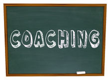 Coaching Word Chalkboard Teaching Learning Sports Education Royalty Free Stock Images