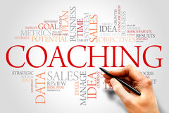 Coaching. Word cloud, business concept Stock Photos