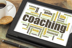 Coaching word cloud Royalty Free Stock Photography