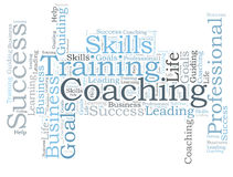 COACHING word cloud Stock Image