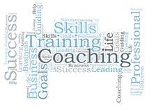 COACHING word cloud. Skills training and COACHING word cloud Stock Image