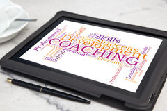 COACHING word cloud Stock Photos