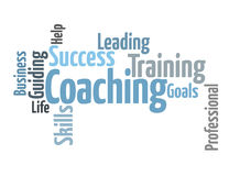 COACHING word cloud Royalty Free Stock Image