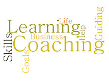COACHING word cloud Stock Images