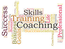 COACHING word cloud Royalty Free Stock Photos