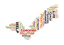 Coaching word cloud Royalty Free Stock Photo