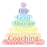 Coaching Word Cloud. On a white background Stock Image