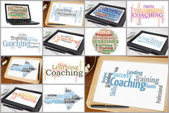 Coaching word clouds Stock Photography