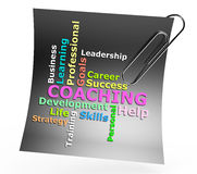 Coaching word concept Stock Images