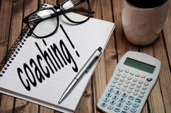 Coaching word Royalty Free Stock Image