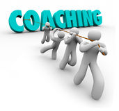 Coaching Word Pulled Team Training Exercise Leadership Royalty Free Stock Image