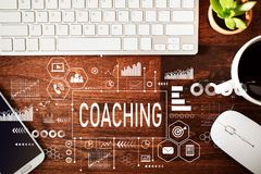 Coaching with workstation Stock Photo