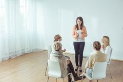Coaching for young women Stock Photography