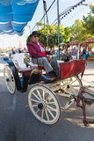 Coachman in old carriage Royalty Free Stock Photo