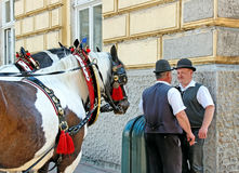 Coachmen in Crakow. Royalty Free Stock Image