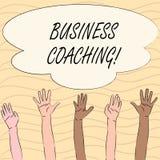 Coachning för affär för ordhandstiltext Affärsidé för konsulterande expert din förbättring för fälterfarenhet royaltyfri illustrationer