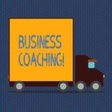 Coachning för affär för ordhandstiltext Affärsidé för konsulterande expert din förbättring för fälterfarenhet vektor illustrationer