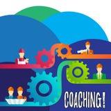 Coachning för handskrifttexthandstil Begreppet som betyder tuff utbildning, börjar till imrove din expertis stock illustrationer