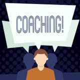 Coachning för textteckenvisning Börjar tuff utbildning för begreppsmässigt foto till imrove din expertis royaltyfri illustrationer