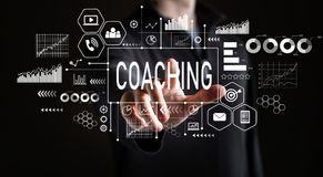 Coachning med affärsmannen arkivbilder