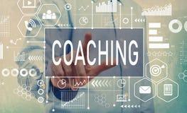 Coachning med affärsmannen arkivbild