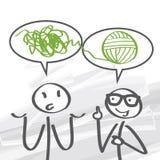 Coachning problemlösning Arkivbild