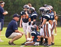 coachningfotbollliga little Arkivfoto
