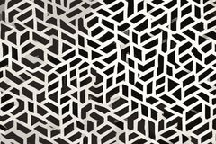 Coagulated texture of seamless geometrical shapes black and white vector illustration