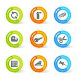 Coagule ícones do escritório (o vetor) Imagem de Stock Royalty Free