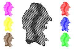 Free Coahuila Map Vector Stock Photography - 128145182